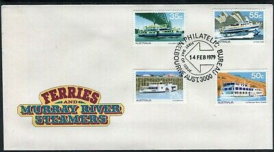 1979 Australia Ferries And Steamers Set Of 4 First Day Cover, Mint Condition