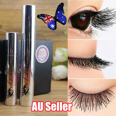4D Silk Fiber Eyelash Mascara Extension Makeup Black Waterproof Kit Eye Lashes B