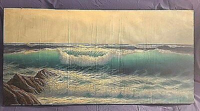GUGLIELMO WELTERS DIPINTO mare 1940 liguria large painting signed 58 X 118 cm