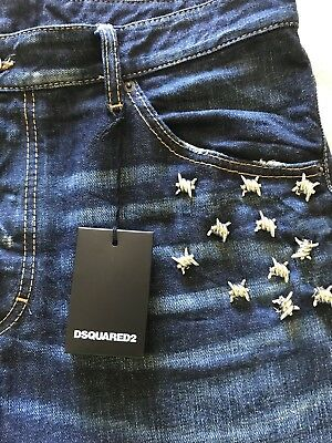 DSQUARED2 Jeans With Black Leather Patch Size 52