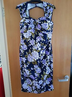 Beautiful Ladies Floral vintage 50s/60s style dress Size 10