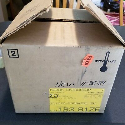 "Kodak Roll Paper - 575ft X 4""inch Ektacolor 78 Paper type 2524. new case 1984"
