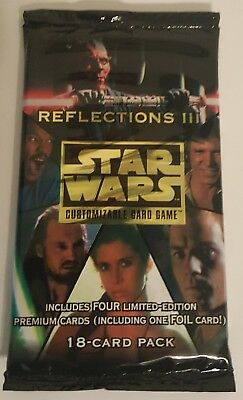Star Wars CCG Factory Sealed Booster Pack Reflections III 3 - Limited Edition