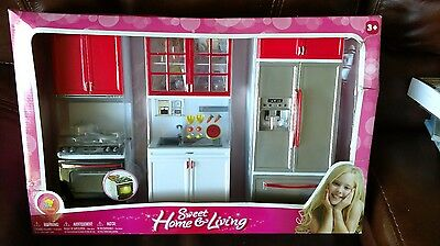 Goldlok Barbie Doll Size Sweet Home Living Kitchen Playset 1 6