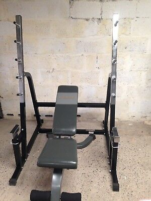 Squat & Bench Rack With Adjustable Bench . GREAT CONDITION !