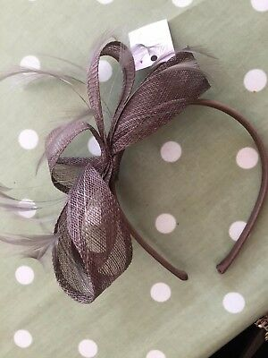 Phase Eight. Lovely fudge brown fascinator. Never worn.