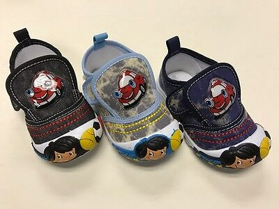Cute Boys Toddler Buckled Cartoon Car Tennis Shoes with Candy Scent Size 2-7