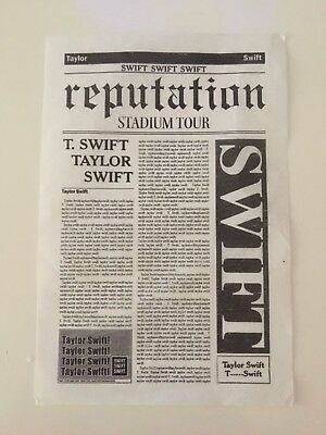 Taylor Swift Reputation Tour Newspaper Confetti x 1