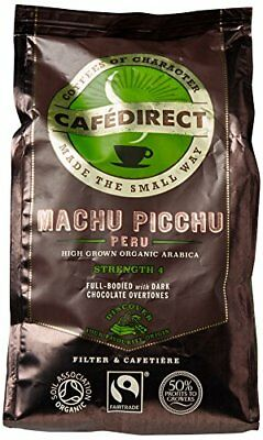 Cafdirect Machu Picchu Organic Fairtrade Ground Arabica Coffee 227g Pack of 2