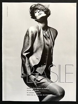 1990 Vintage Print Ad BASILE Woman's Fashion Image Model Pose Photo
