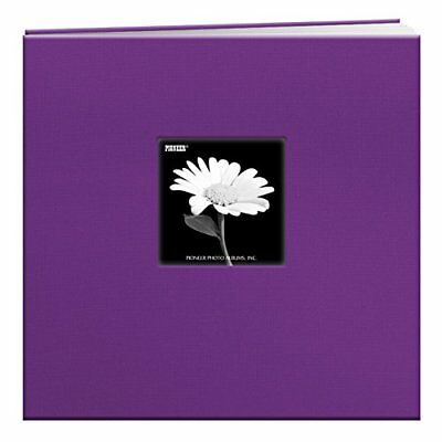 Pioneer 12 x 12-inch Book Cloth Cover Post Bound Album, Grape Purple