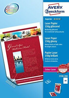 Avery Zweckform 2598-200 Superior Colour Laser Paper Glossy A4 150 g 200 Sheets