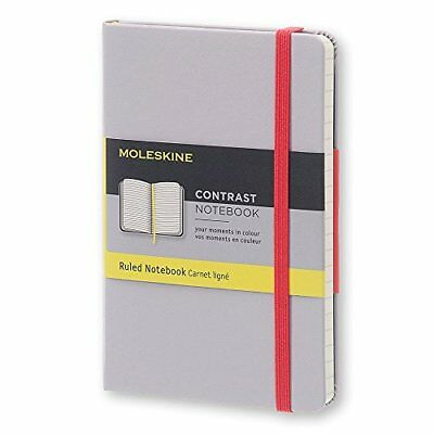Moleskine Contrast Limited Collection Aster Grey Pocket Ruled Hard