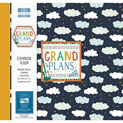 First Edition Grand Plans Scrapbook Album 12x12 Snap Load