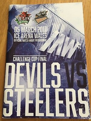 Cardiff Devils V Sheffield Steelers Challenge Cup Ice Hockey Programme 2017