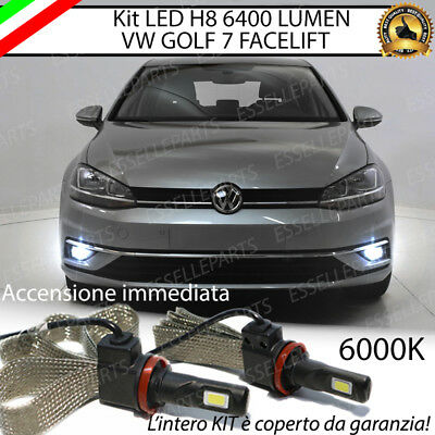 Kit Full Led Vw Golf 7 Facelift Lampade H8 Fendinebbia Canbus 6000K No Error