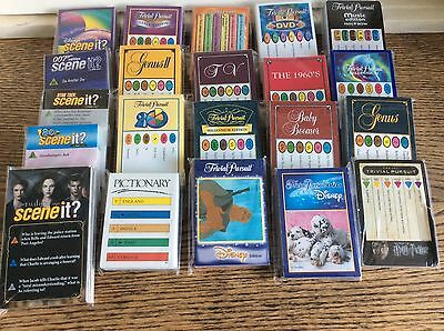 Trivial Pursuit Questions Cards: Various Editions Scene It Pictionary Quiz Night