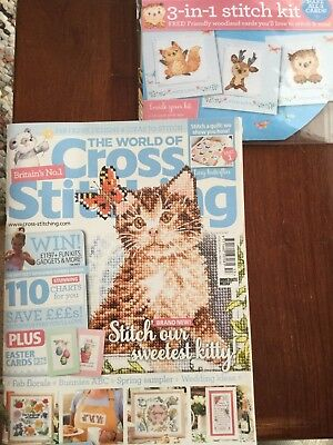 world of cross stitching issue 253 + free gift