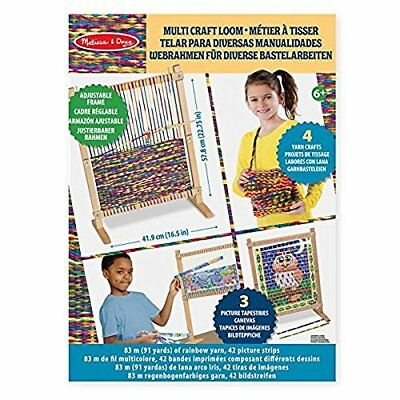 Melissa  Doug Wooden Multi-Craft Weaving Loom, Extra-Large Frame 57.80 x 41.91