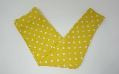 Mini Boden Yellow And White Polka Dot Leggins, Size 4-5 years