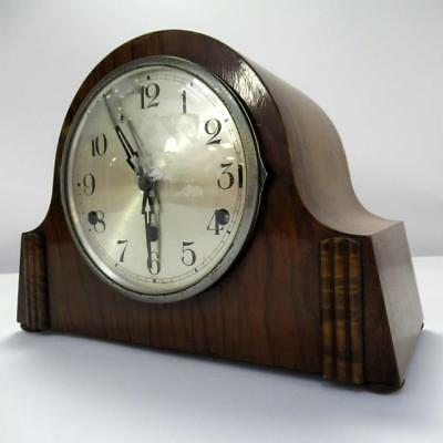 Vintage Foreign Wooden Mantel Clock Westminster Chime - No Key - Needs Service