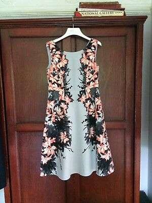 Womens M&S sleeveless fully lined dress with V back - size 10
