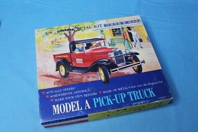 Rare! Vintage 1950s Hubley Model A Roadster Pickup Metal Model Car Kit No. 855K