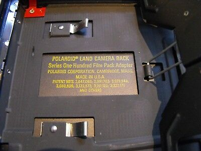 Polaroid land camera back series 100 film pack adapter