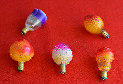 Beautiful Vintage   Set  Of Tropical Fruits Christmas Ornamental  Lamps Bulb