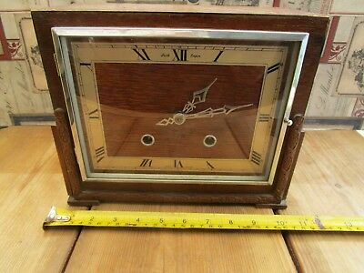 Vintage Smiths Empire Chiming Mantle Clock, Working, No Key.