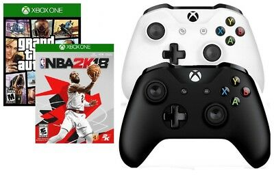 Xbox One S Controller + Grand Theft Auto V Or NBA 2K18 Brand New Seal