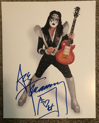 KISS- Ace Frehley Signed 8X10  Photo-Original & N/M (See description) In Make Up