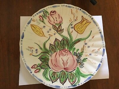 "Blue Ridge 10"" "" Nove Rose"" Dinner Plate on the Colonial Blank."
