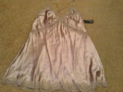 M&S ROSIE for AUTOGRAPH PURE SILK CHEMISE NIGHTDRESS Colour: PRALINE UK 22 BNWT