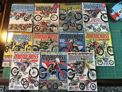 2016 Motocross Action Magazine 11 Issues Every Month Except Mar