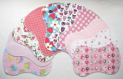 10 New Baby Girl ~ Double Flannel Burp Cloths Lot Shower Gift