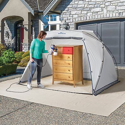 HomeRight Spray Shelter Large Spray Paint Tent Portable Paint Booth Protector