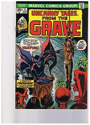 Uncanny Tales From The Grave # 4 Marvel Horror Action Adventure Vg