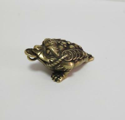 China pure brass Golden toad small pendant