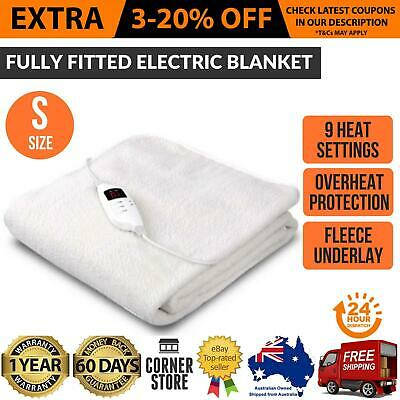 Electric Blanket - COSY FLEECE - 9 HEAT SETTINGS - Single