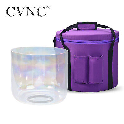 """6""""-12"""" Chakra Tuned Set of 7 pcs Paternoster Frosted Quartz Crystal Singing Bowl"""