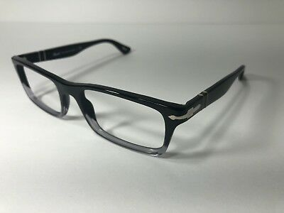 cfb2d0948a Persol Designer Eyeglass Frame PO 3050-V 966 Black Clear Men Women RX  Glasses