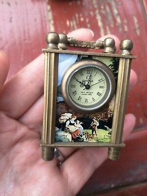Collectible Old Chinese cloisonne Handwork Mechanical Table Clock NR