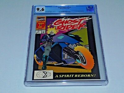 GHOST RIDER (Vol. 2) #1 CGC 9.6, WHITE Pages, 1st Dan Ketch G.R.,1990 New CASE