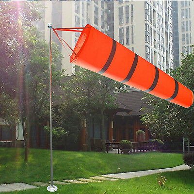80CM Aviation Windsock Rip-stop Wind Guage Sock Bag Measurement Reflective Belt