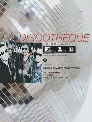U2 Original Magazine Advertisement DISCOTHEQUE RARE!