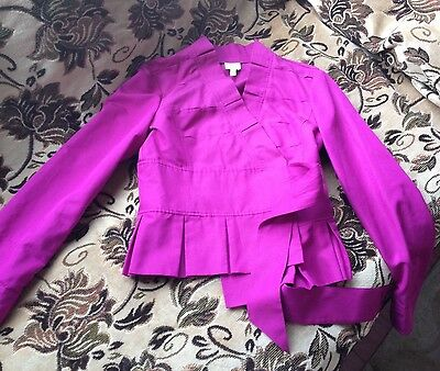 New ARMANI COLLEZIONI Cotton/Silk,Purple Jacket Blazer,size 6