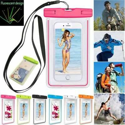 Universal Luminous Waterproof Pouch Case For Phones iPhones Samsung Huawei Sony