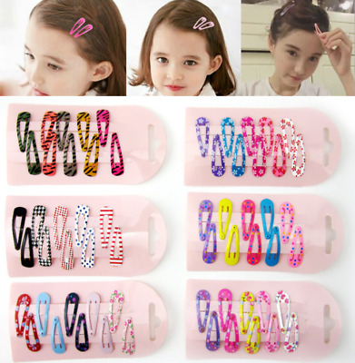 10pcs Charm Cute Hair Clips Snaps Hairpin Girls Baby Kids Hair Bow Accessories