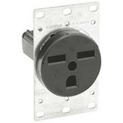Leviton 800-5372-8K 2-Pole 3-Wire Single Grounding Power Outlet 30A-250V - Black